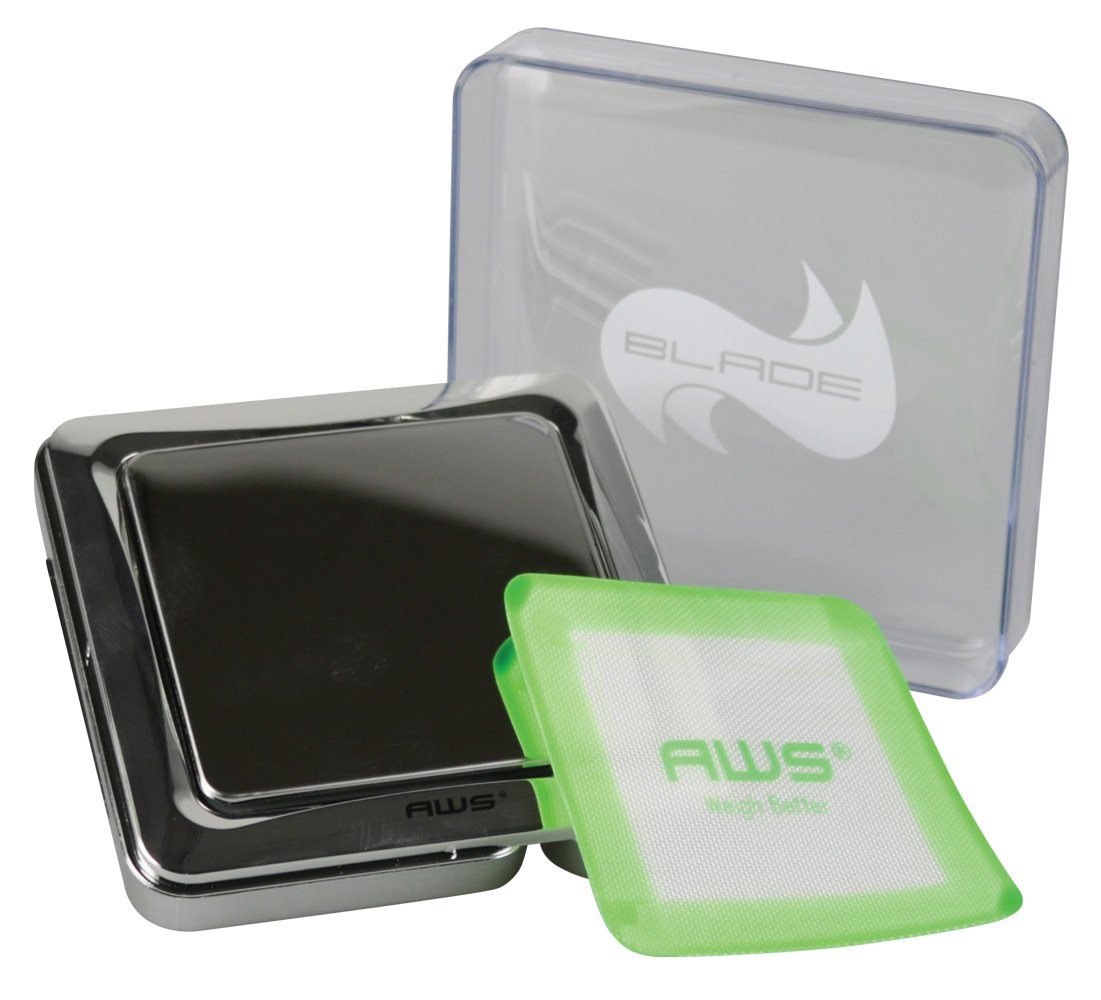 AWS Blade Scale w/ Silicone Mat - 1000g x 0.1g / Chrome by AWS (Image #1)