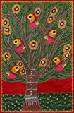NOVICA ''Tree of Life II'' Signed Madhubani Folk Art Painting