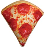 """iscream Snack Shack Pizza Slice Shaped 17"""" x 17"""" Photoreal Print Microbead Accent Pillow"""
