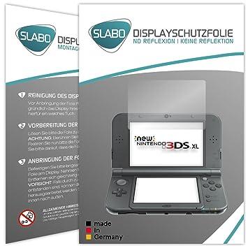 Slabo 2 x Protector de Pantalla para New Nintendo 3DS XL lámina Protectora de Pantalla No Reflexion - No Reflexiones Mate suprime Reflejos Made IN ...