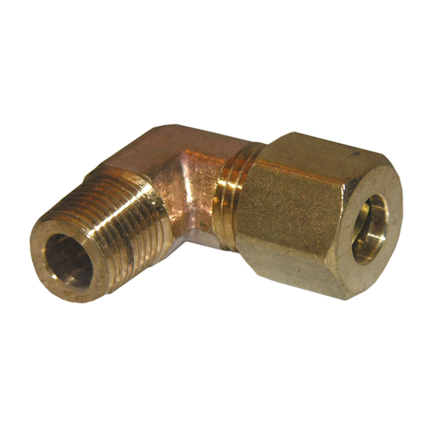 LASCO 17-6905 3//16-Inch Compression by 1//4-Inch Male Pipe Thread Brass 90-Degree Ell//Elbow