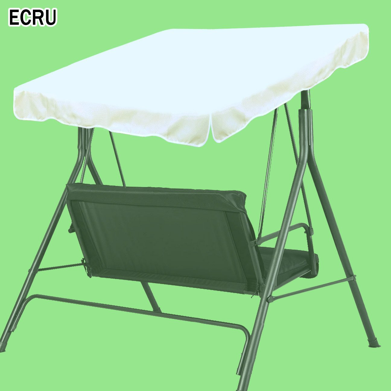 Strong Camel New Patio Outdoor 77''x43'' Swing Canopy Replacement Porch Top Cover Seat Furniture (Ecru)