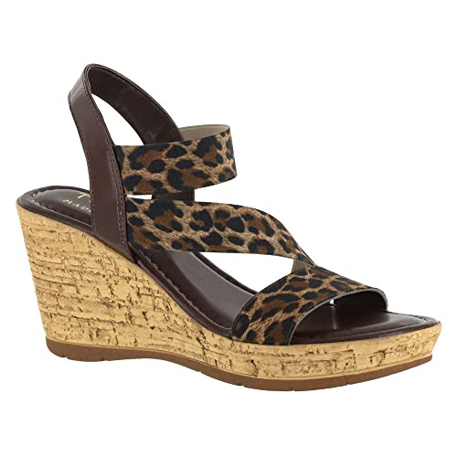 Easy Street Women's Piceno Wedge Sandal, Leopard, ...