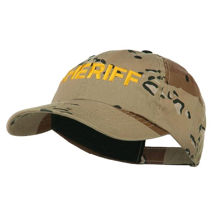 331635fabc3 E4hats Sheriff Military Embroidered Camo Cap - Desert OSFM at Amazon ...