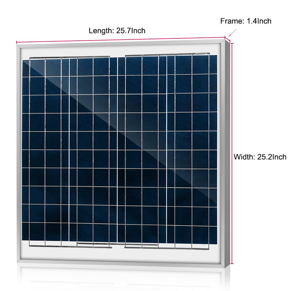 ACOPOWER 15w 15 Watts 12v Polycrystalline Photovoltaic PV Solar Panel Module for 12 Volt Battery Charging Off Grid RV Marine Boat