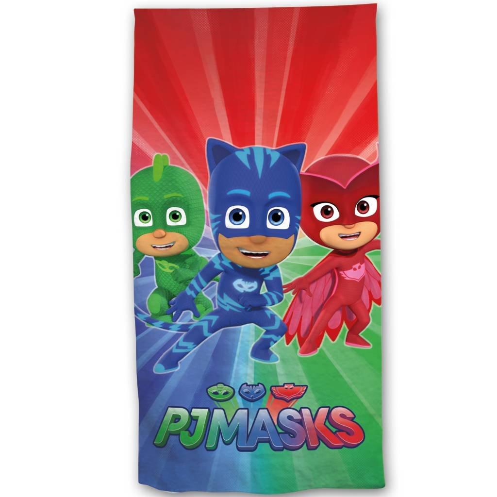 PJ Masks - Serviette Drap de Bain Plage 70 x 140 cm Pyjamasques 100% Coton
