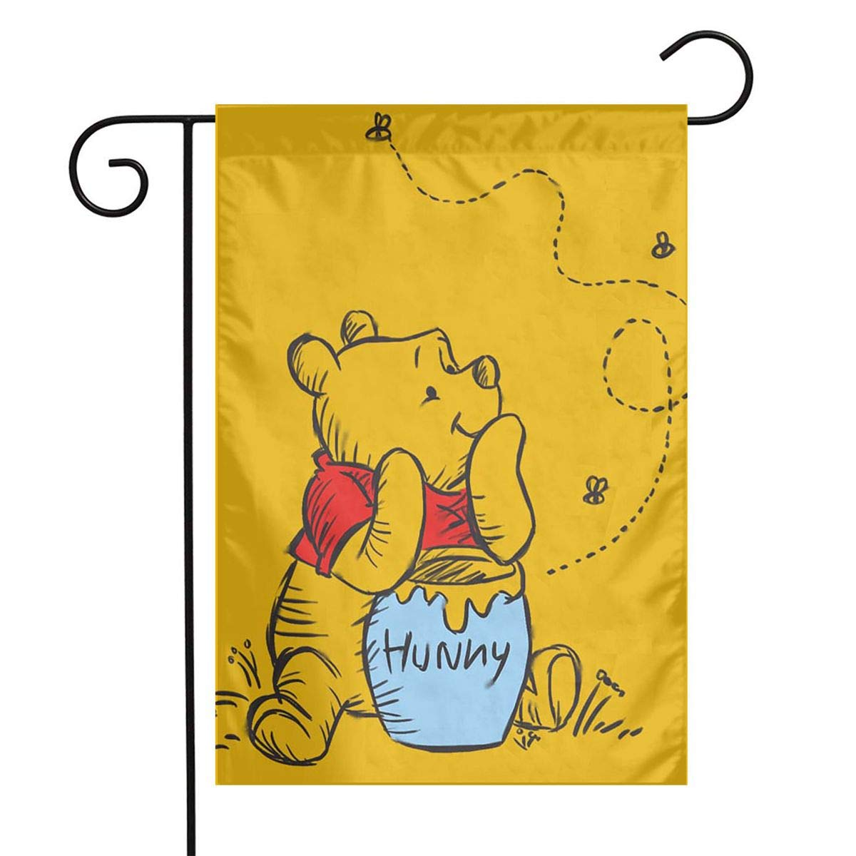 LIUYAN Garden Flag - Winnie The Pooh Unique Decorative Outdoor Yard Flags for Your Home 12 X 18 Inches