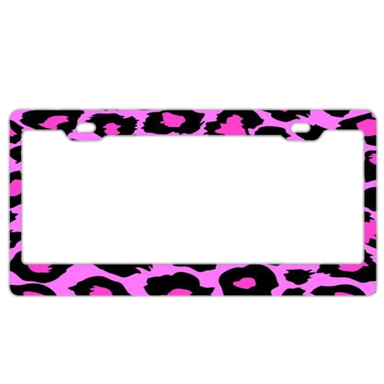 License Plate Frame for Women,Car Licenses Plate Covers Black License Tag Aluminum Metal CooLicensfhrframe