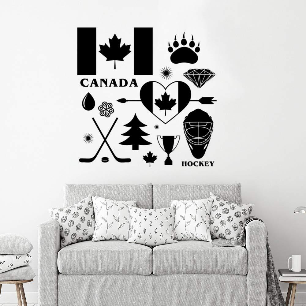 wukongsun País Canadá Bandera Tatuajes de Pared Bandera de Hockey ...