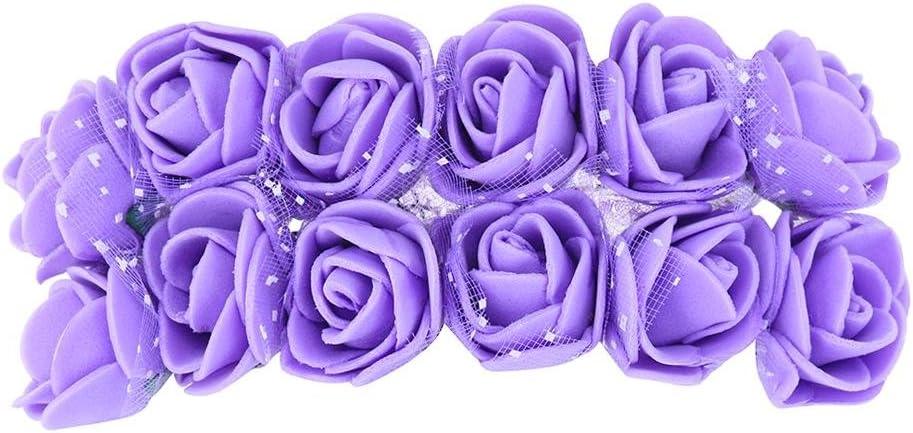 Decorazioni Fiori.Ueb 12pcs Teste Di Rose In Schiuma Rose Finte Per Decorazioni