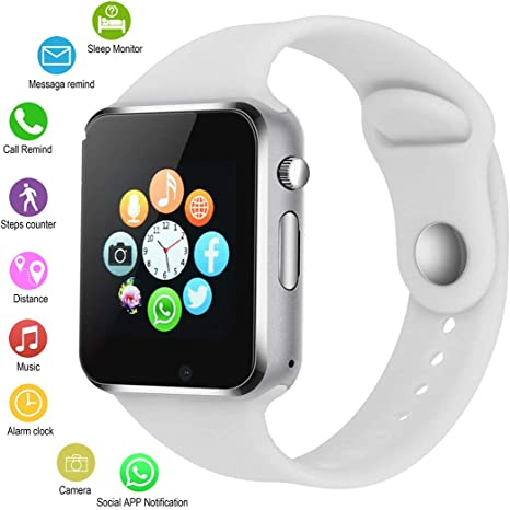Smart Watches for Android Phones,IOQSOF Anti-Lost Touch Screen Bluetooth Smart Watch with Camera,Waterproof Smart Wrist with SIM Card Slot for Android ...