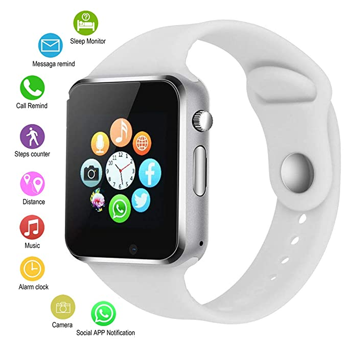 Smart Watches for Android Phones,IOQSOF Anti-Lost Touch Screen Bluetooth Smart Watch with