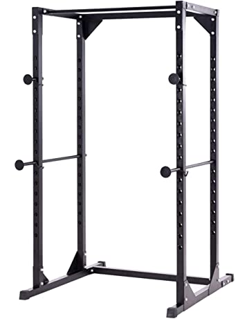 Goplus Power Rack Heavy Duty Adjustable Power Cage Multi-Function Fitness Squat Cage for a