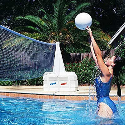 POOL SHOT Super Water Volley Swimming Pool Volleyball Net: Toys & Games