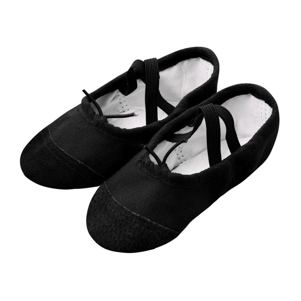 Toile Ballet Pointe Danse Lacet Pantoufles Chaussures Fitness, QinMM Lacet B07BPM5YX9 Gymnastique Pantoufles pour Enfants Noir 7e92c4a - latesttechnology.space