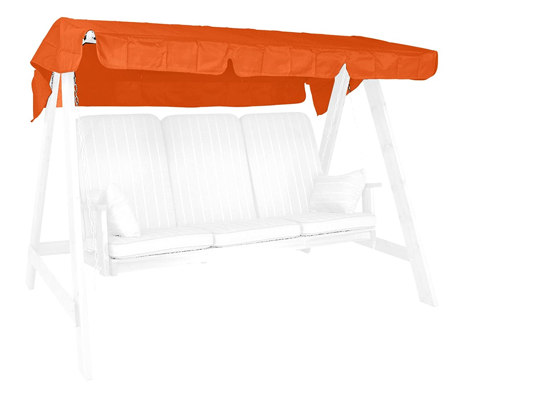 Angerer 9908 11 - Tetto per dondolo, Poliacrilato, 190 x 130 cm, colore  Terracotta