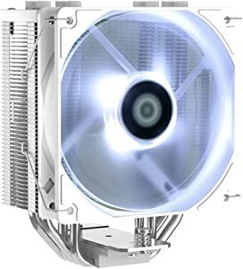 ID-COOLING SE-224-XT White CPU Cooler AM4 CPU Cooler 4 Heatpipes CPU Air Cooler 120mm PWM Fan Air Cooling for Intel/AMD