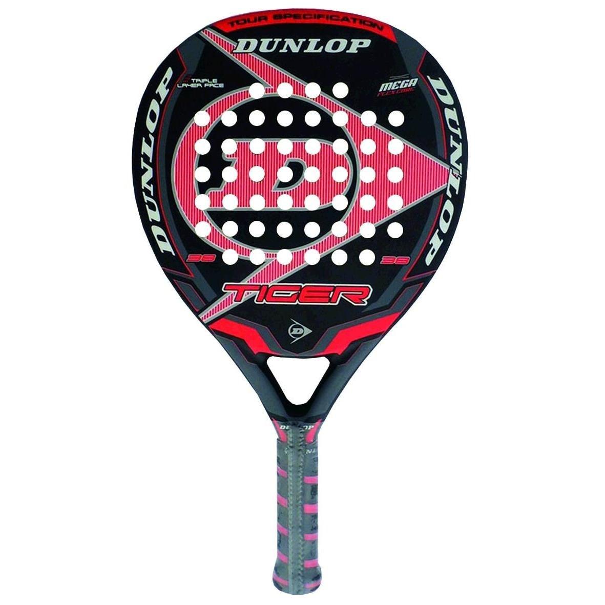 Dunlop Tiger - Pala de pádel, Color Rojo, 38 mm: Amazon.es: Deportes y aire libre