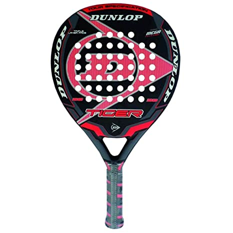 DUNLOP Tiger - Pala de pádel, Color Rojo, 38 mm: Amazon.es ...