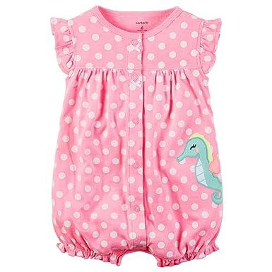 f043bb2afda Amazon.com  Carter s Baby Girls  Seahorse Dot Jumpsuit  Baby