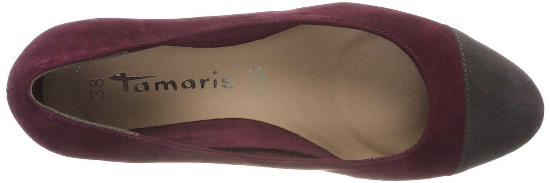 Tamaris Damen 22400-21 (Merlot/Anthra. Pumps Rot (Merlot/Anthra. 22400-21 511) 973137