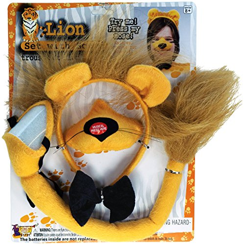Forum Novelties Animal Costume Set Lion Nose Tail with Sound (Animal Tail Costume)