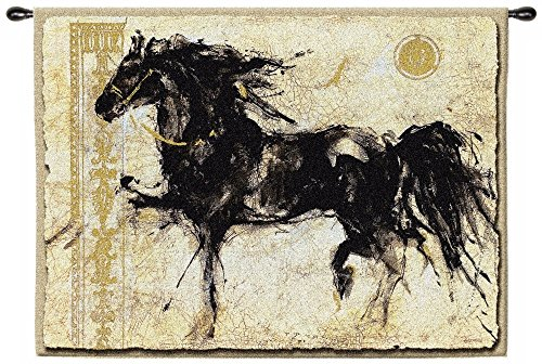 Classic Horse Style Handwoven Wall Hanging Fabric Tapestry Home Decor by PCI