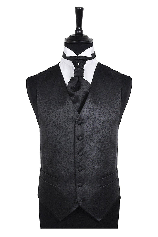 "Black Scroll Waistcoat 54"""