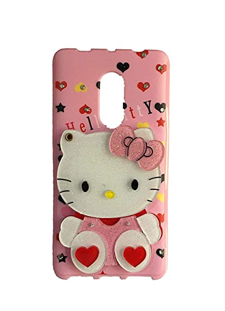 premium selection 7b757 1fe82 Yes2Good Redmi Note 4 Mirror Kitty Cover | Soft Silicone Rubber Back Cover  for Xiaomi | Shockproof & Anti-Scratch | 3D Cartoon Designed Mi Covers for  ...