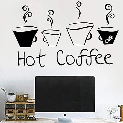 jiushizq Patrón de café Moderno Pegatinas de Pared ...