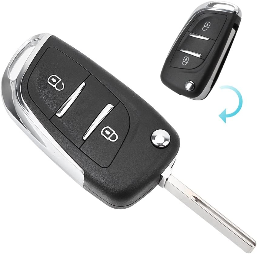 iTimo Funda para Llave de Coche para Peugeot 107 207 307 307S 308 407 607 2BT DKT0269