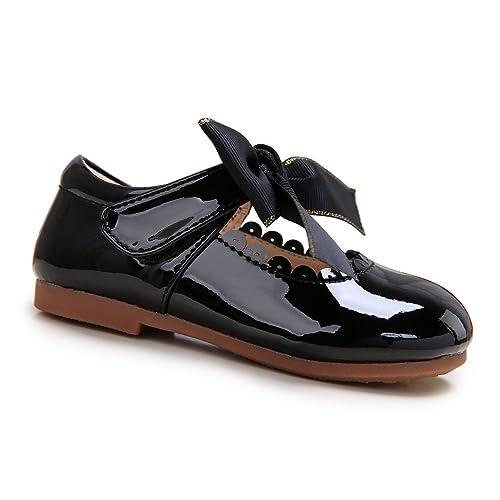 f4d8947ea Pettigirl Niña Bowknot Plana Princesa Antideslizante Zapatos  Amazon.es   Zapatos y complementos