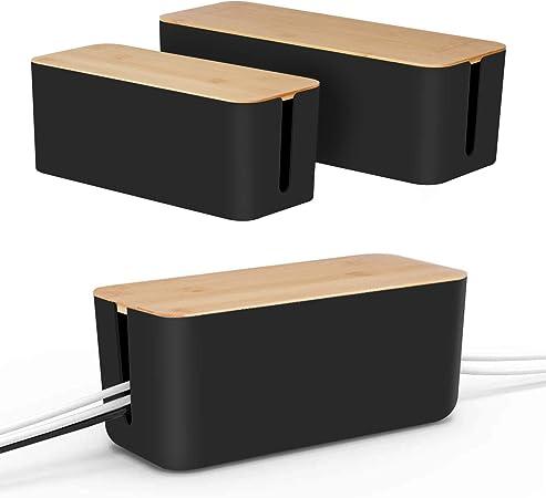 Kabel Management Box Von Baskiss Holzdeckel Elektronik