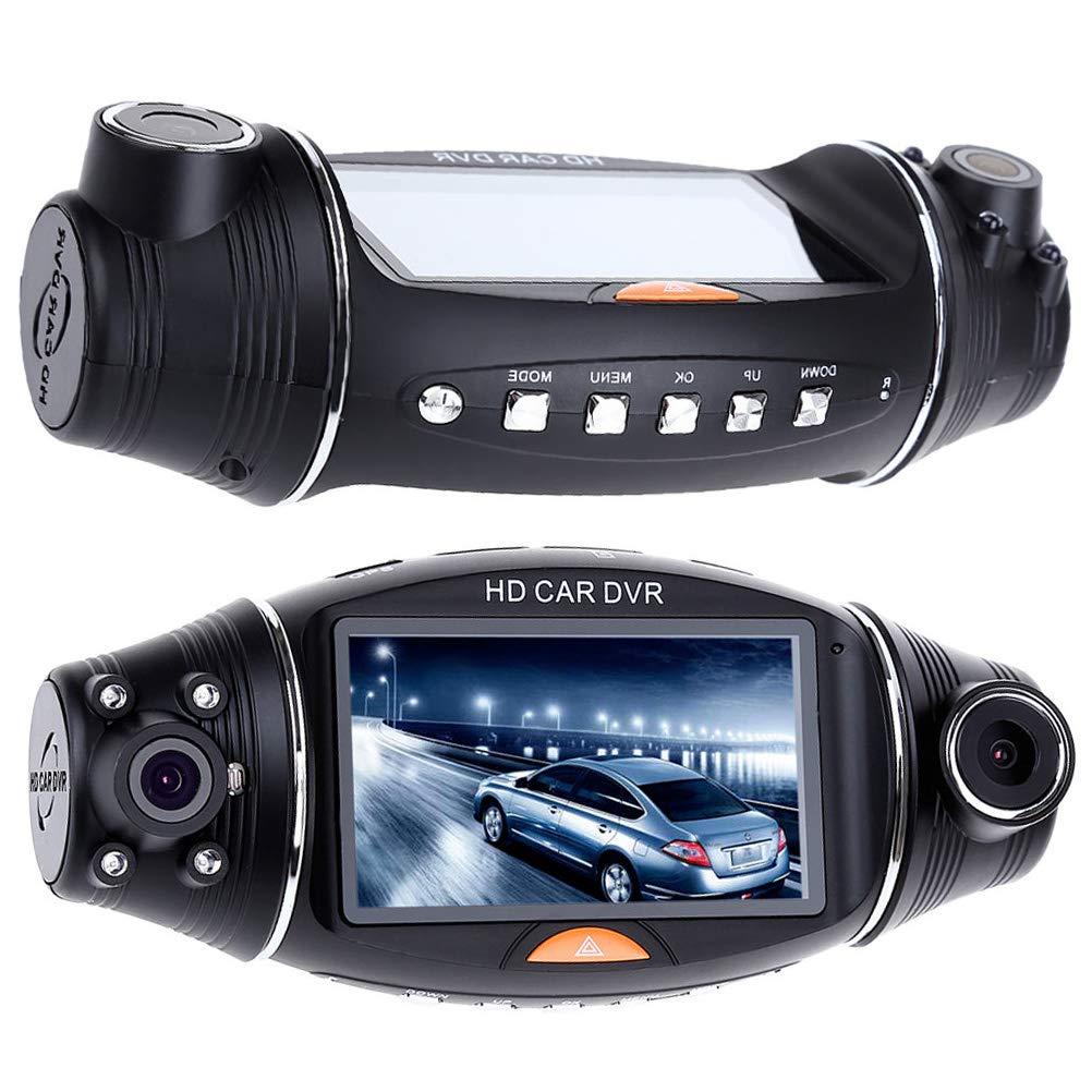 Vosarea Auto Camera Recorder Dual Dash Cam 140 gradi HD Car DVR Dual Camera Lens DVR Grandangolare Night Vision Sensore di gravità con GPS