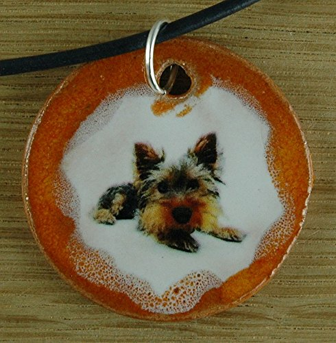 Orginal handicraft: Small Dog; terrier canis lupus familiaris, four-legged, man's best friend, fur nose, dogs cattle dog, jewellery, jewelry, handcrafted necklace, best gift, art, ceramic (Terrier Cane)