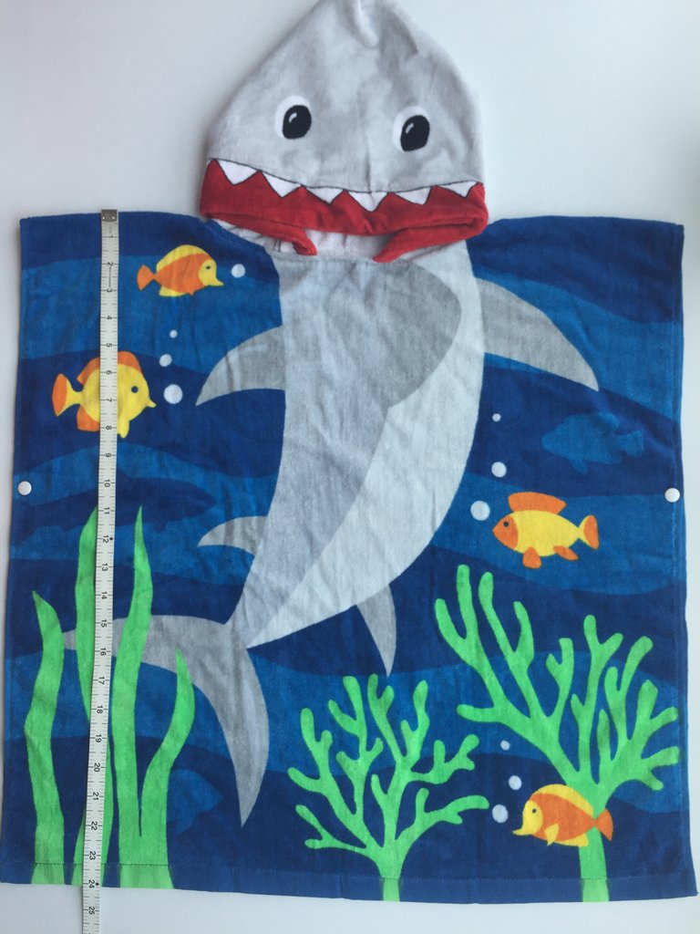 Cotton Use for Baby Toddler Boys Bath Pool Swim Poncho Cover-ups Cape Extra Large 24x48 Athaelay Kids Beach Towels for 1 to 5 Years Old Shark Theme Ultra Breathable and Soft for All Seasons