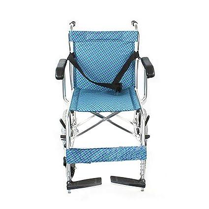 GUO Ligera viajes de aluminio silla de ruedas de transporte silla de ruedas plegable