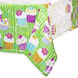 Cupcake Party Plastic Tablecloth, 84' x 54'