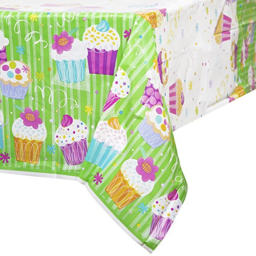 Cupcake Party Plastic Tablecloth 84