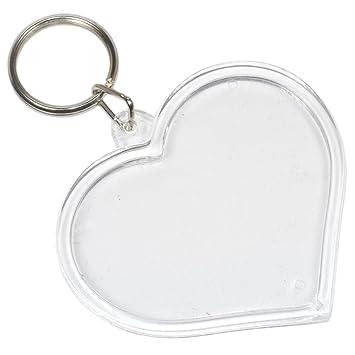 Porte Clé Coeur à Fabriquer Soimême Porte Clef Photo Plastique - Porte clef photo