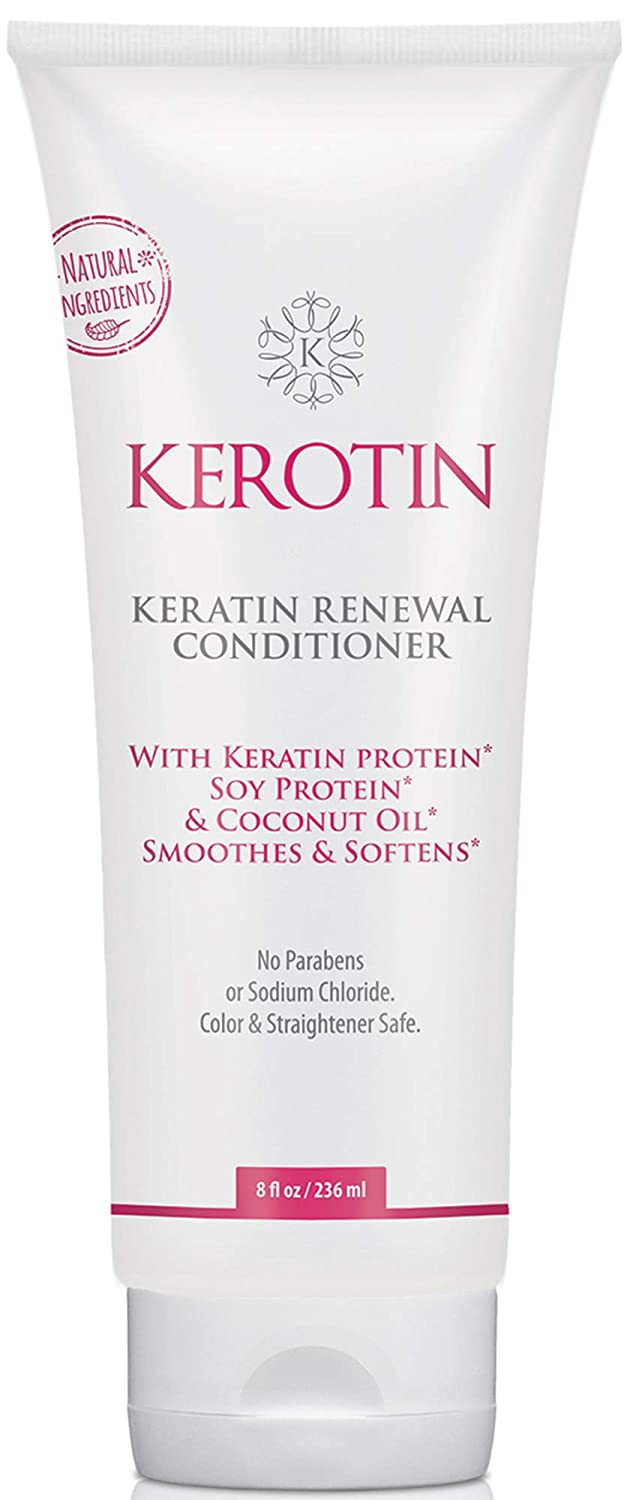 Keratin Renewal Conditioner - Repairs Damaged Hair & Promotes Growth with Follicle Stimulating Ingredients - Color Safe & Infused with Keratin Amino Complex - 8 Fl Oz Kerotin