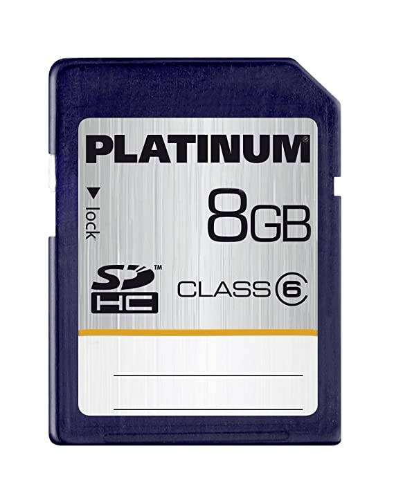 Platinum Class 10 SDHC Secure Digital - Tarjeta de memoria SecureDigital de 8 GB, azul