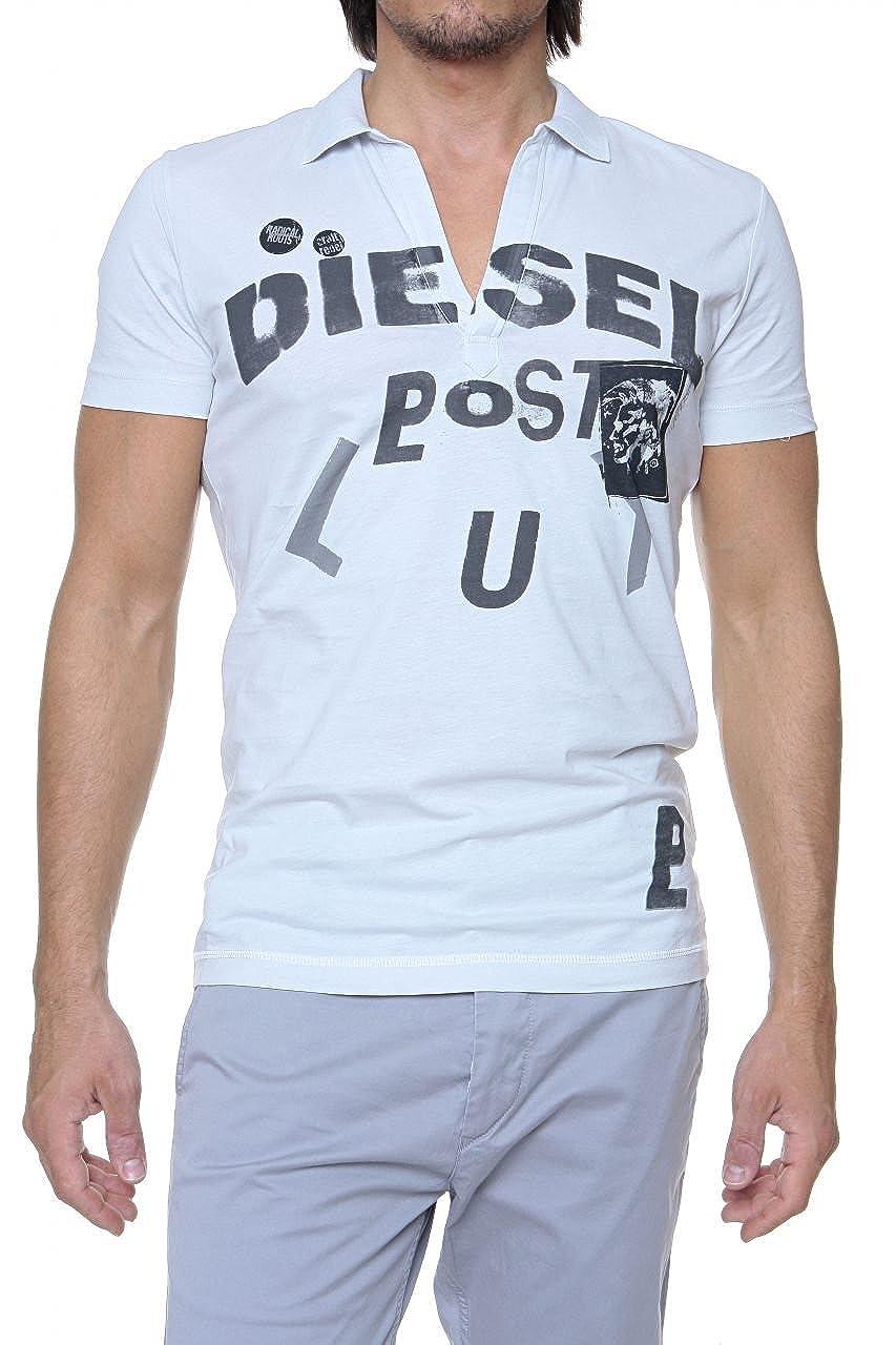 Diesel Polo TALLA para hombre, Color: Gis Claro, Talla: S: Amazon ...