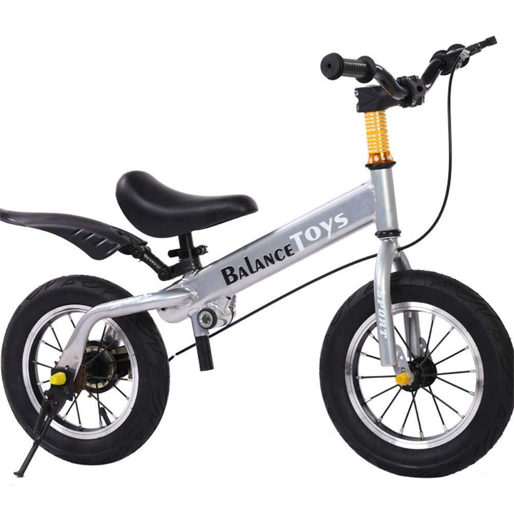 1-1 12 Zoll Zwei Rädriger Kinderroller,Balance Fahrrad Und Fahrrad In Einem Für Kinder(Mit Bremse)