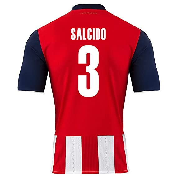 53da559b039 Puma Salcido  3 Chivas Guadalajara Home Soccer Jersey 2016 17 YOUTH. (YL)   Amazon.co.uk  Clothing
