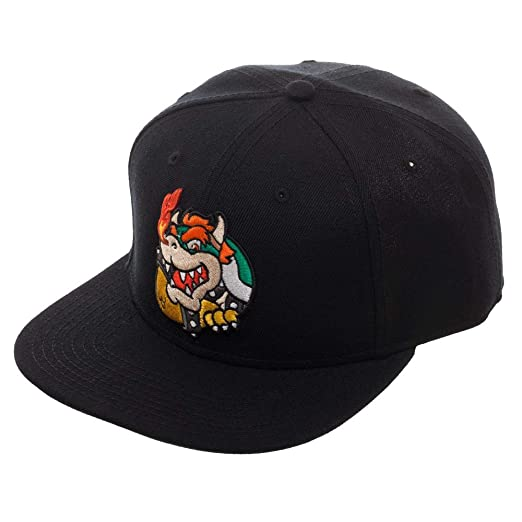 156304ea53d80 Image Unavailable. Image not available for. Color  Nintendo Super Mario  Bros. Bowser Snapback Hat