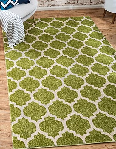 Unique Loom Trellis Collection Light Green 3 x 5 Area Rug (3' 3