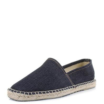 6230e73126f1 Replay Mens Targhet Navy Blue Denim Espadrille Slip On Shoes Size 10 ...
