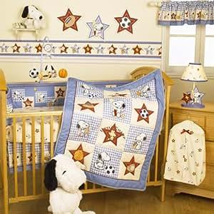 Amazon Com Bedtime Originals Champ Snoopy 4 Piece Baby