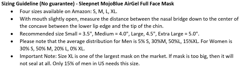 Sleepnet..MojoAirGel..Full..Face..Mask size XL_(Customizable Shape!)